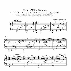 fondu with balance sheet music for ballet class by martin akerwall