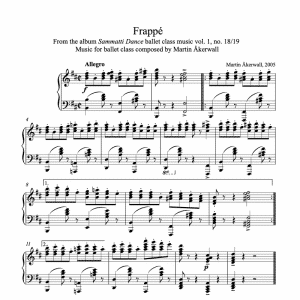 frappe sheet music for ballet class by martin akerwall