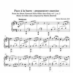 face a la barre preparatory exercise sheet music for ballet class by martin akerwall