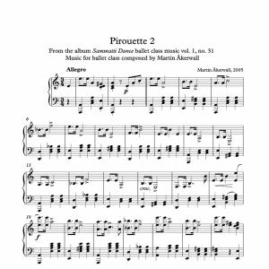 pirouette sheet music for ballet class