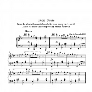 petits sauts sheet music pdf