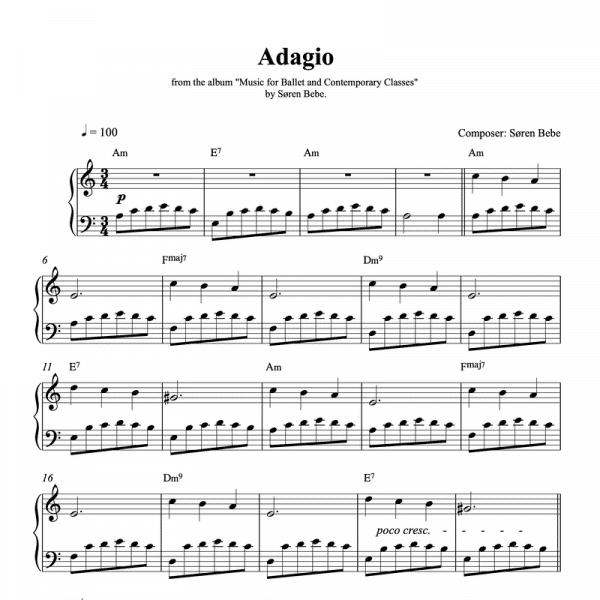 ballet class adagio sheet music