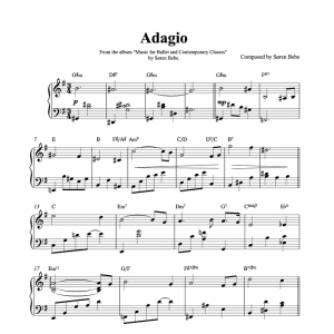 ballet class sheet music for adagios