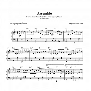 assemble piano sheet music for ballet class pdf