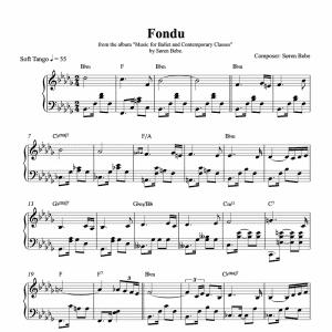 fondu ballet class sheet music pdf download