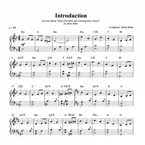 introduction piano sheet music for ballet class pdf