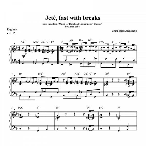 ballet class score for jeté