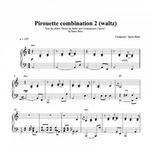 pirouette waltz sheet music
