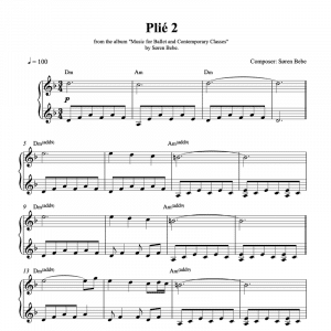 ballet class sheet music for plié