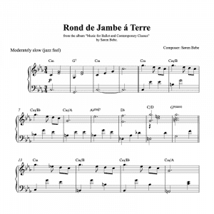 rond de jambe piano sheet music to download