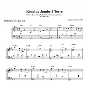 rond de jambe piano sheet music to download