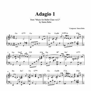adagio ballet sheet music