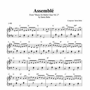 assemble piano sheet music