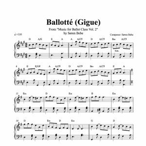 ballotte piano sheet music