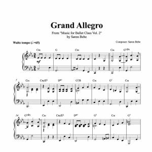 grand allegro piano score