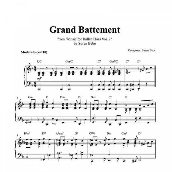 grand battement sheet music
