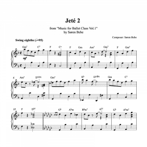 jeté pdf piano sheet music for ballet class
