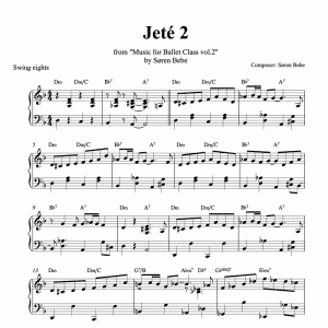 jete sheet music pdf