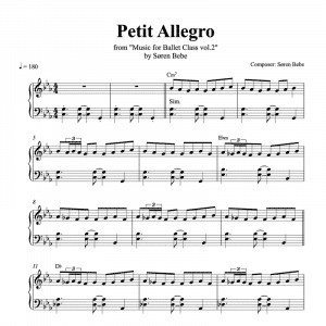 petit allegro piano sheet music for music for ballet class vol.2 by soren bebe