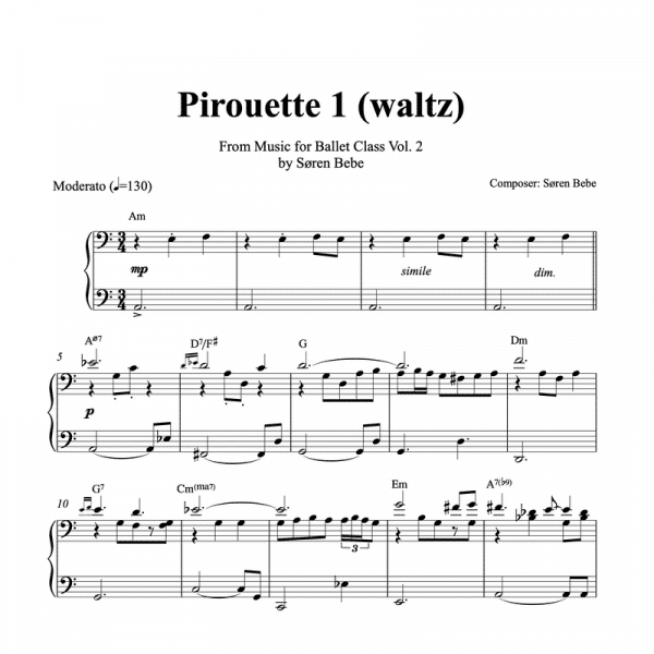 pirouette sheet music