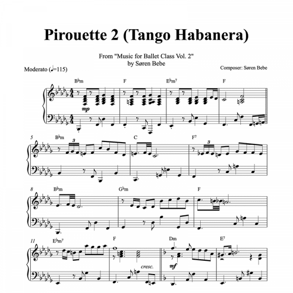 pirouette piano sheet music