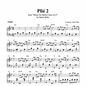 plié piano score