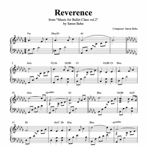 piano sheet music for reverence