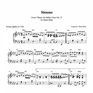 sissone piano sheet music
