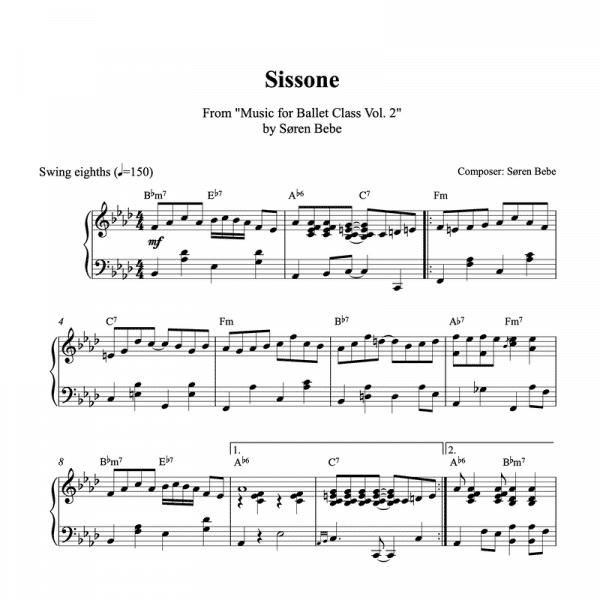 sissone piano sheet music