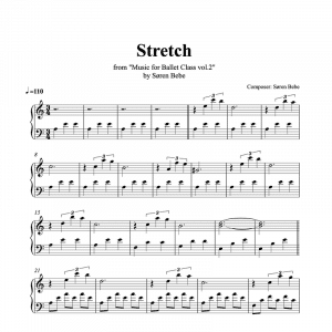 stretch piano sheet music for music for ballet class vol.2 by soren bebe