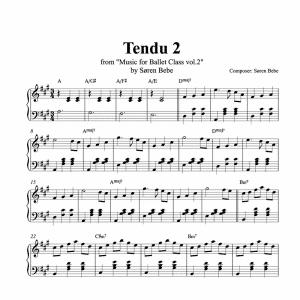 tendu piano score