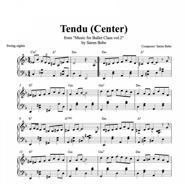 tendu sheet music pdf