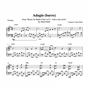 barre adagio piano sheet music