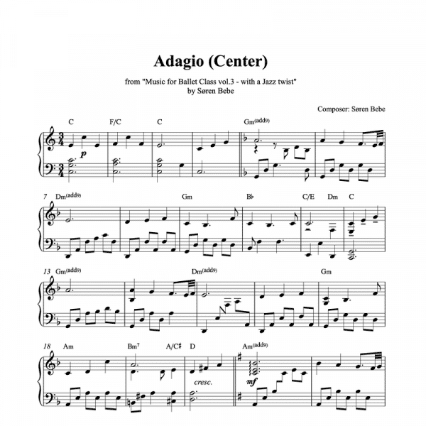 adagio ballet piano sheet music