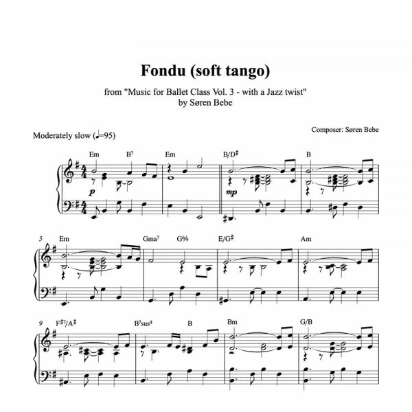piano tango sheet music for ballet class