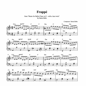 frappé piano sheet music pdf