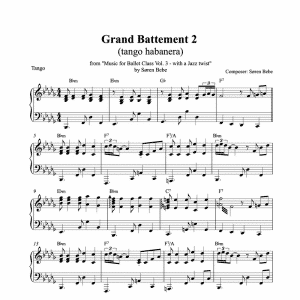 grand battement piano sheet music