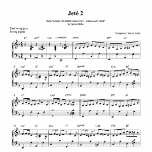 jeté 2 piano sheet music for music for ballet class vol.3 by soren bebe