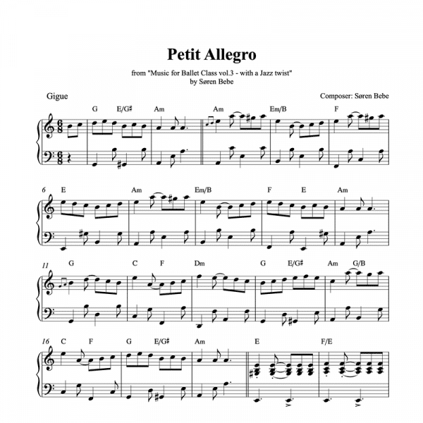 petit allegro sheet music