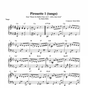 pirouette piano sheet music for ballet classes