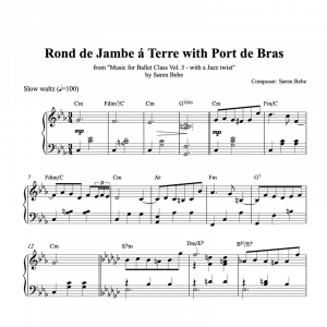 rond de jambe a terre piano sheet music for ballet