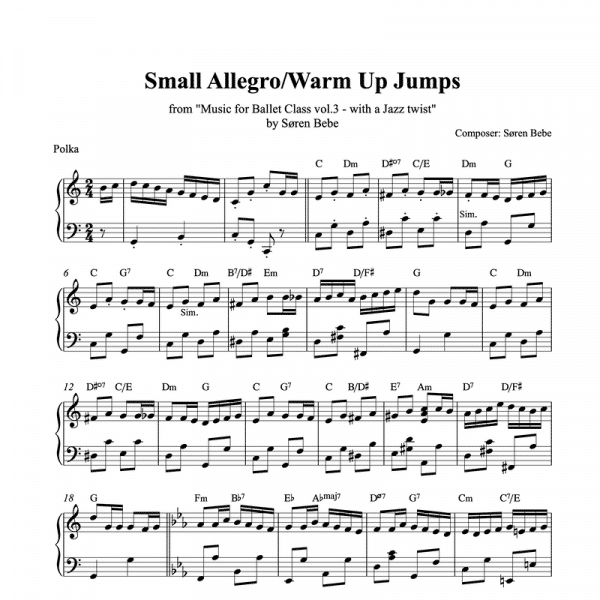 small allegro piano sheet music pdf