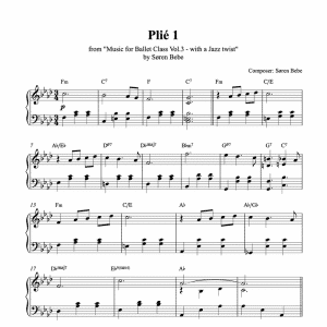Plié piano sheet music