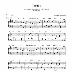 Piano tendu score for ballet