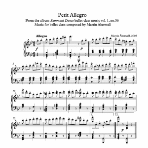 martin akerwall petit allegro piano sheet music for ballet class pdf download