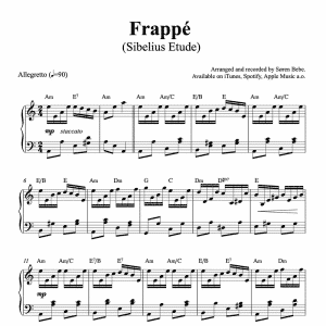 Sibelius etude op.76 piano sheet music for ballet class frappe exercise