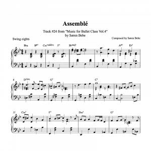 assemble piano sheet music for ballet class by søren bebe