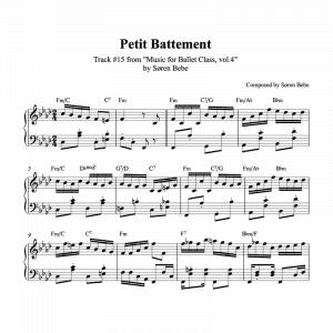 polka inspired ballet class piano sheet music for petit battement by søren bebe