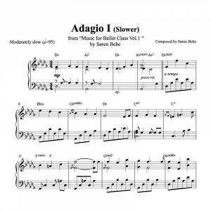 adagio 1 slow ballet class piano sheet music pdf