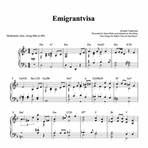 emigrantvisa piano sheet music pdf